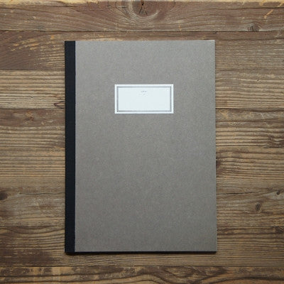 Stitch Notebook Plain - Brown - Size L