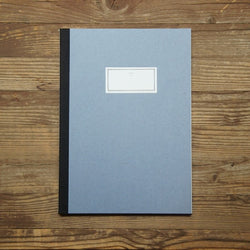 Stitch Notebook Plain - Light Blue - Size L