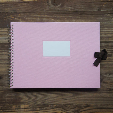 Multi-purpose  Album Vintage O-Check - Fabric Cover - Pink - L Size