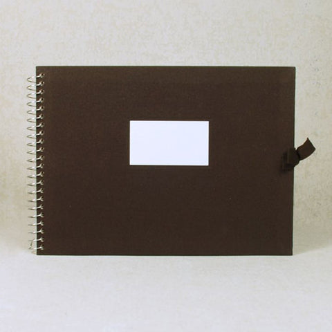 Multi-purpose Album Vintage O-Check - Fabric Cover - Brown - L Size