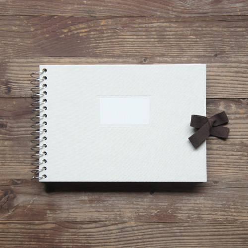 Multi-purpose Album Vintage O-Check - Fabric Cover - Ivory - S Size