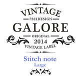 Stitch Notebook - London - Vintage Galore - Blank Note - L - VY6854
