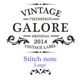 Stitch Notebook - London - Vintage Galore - Blank Note - M - VY7097