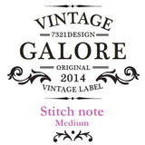Stitch Notebook - London - Vintage Galore - Line Note - M - VY7011