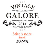 Stitch Notebook - London - Vintage Galore - Blank Note - S - VY7332