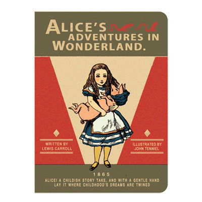Stitch Notebook - Alice in Wonderland - Vintage Galore - Blank Note - S - AL7301