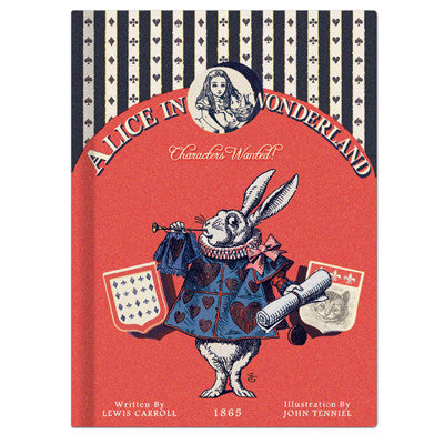 Hardcover Note - Alice in Wonderland - Vintage Galore - Line Note - AL8612