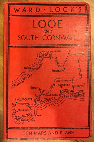Ward Lock Red Travel Guide - Looe and South Cornwall c. 1950 13th ed TR:101