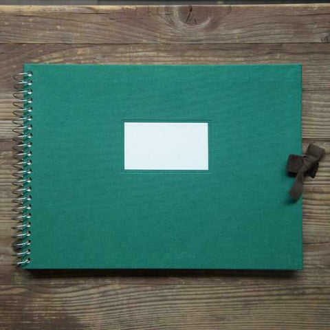 Multi-purpose Album Vintage O-Check - Fabric Cover - Green - L Size