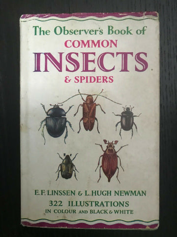 The Observer's Book  of Common Insects & Spiders 1960 ID: 04