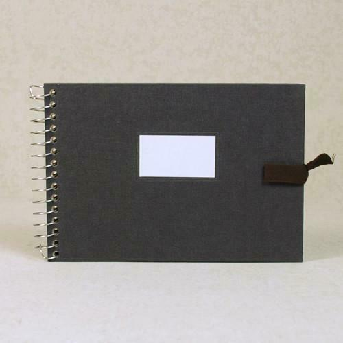 Multi-purpose Album Vintage O-Check - Fabric Cover - Grey - S Size