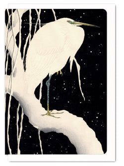 EGRET IN WINTER CARD