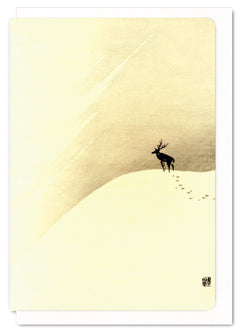 DEER ON MOUNTAIN CARD