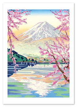 MOUNT FUJI IN THE SPRING CARD