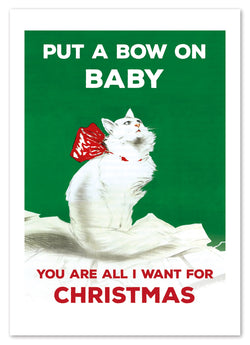 BOW ON CAT CARD