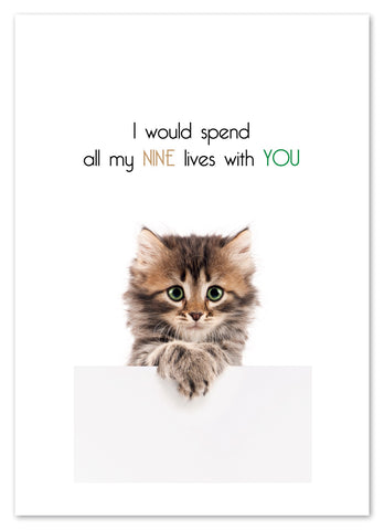 NINE LIVES WITH YOU CARD