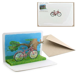 Fun 3D Pop-up Bicycle card