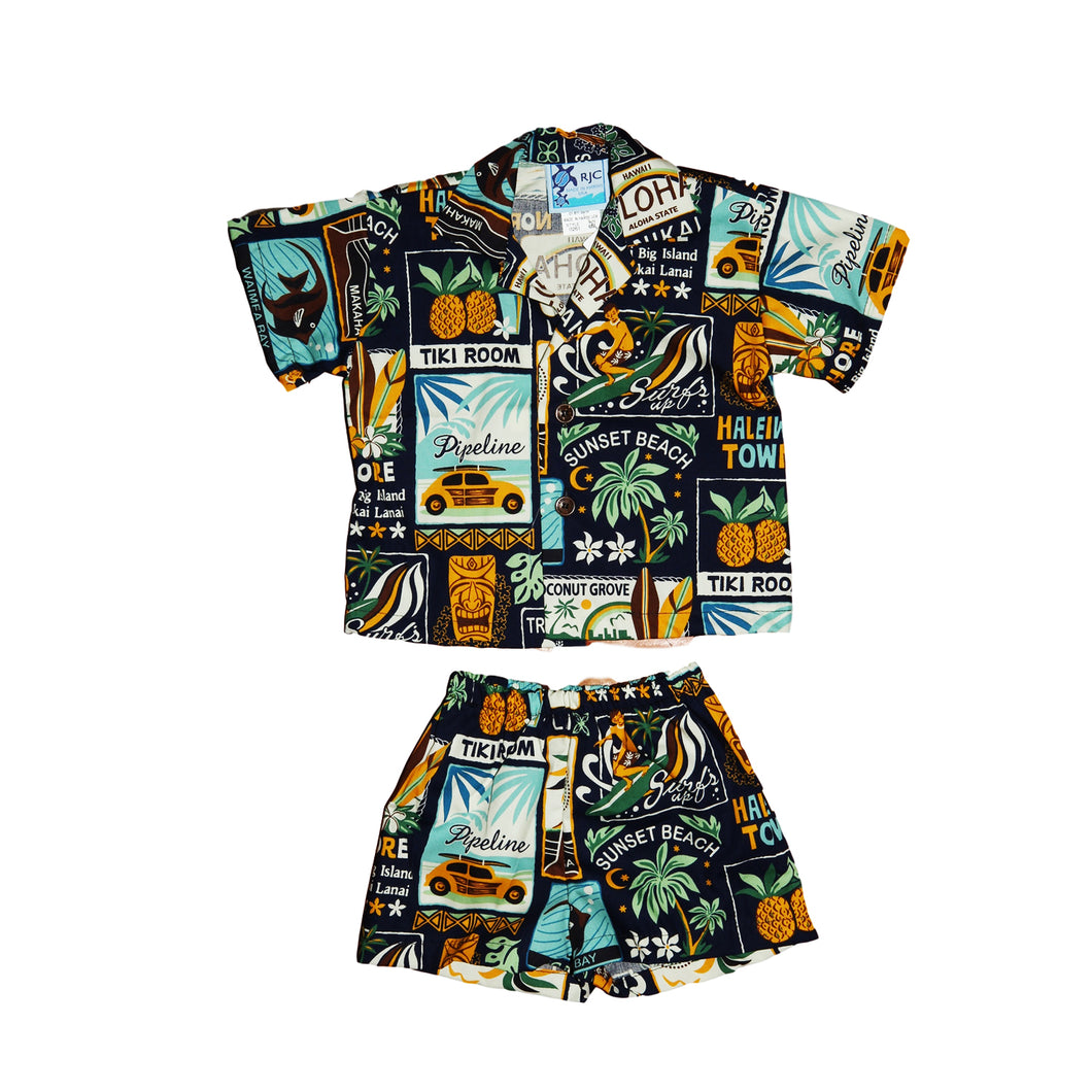 Boys Hawaiian Print Set