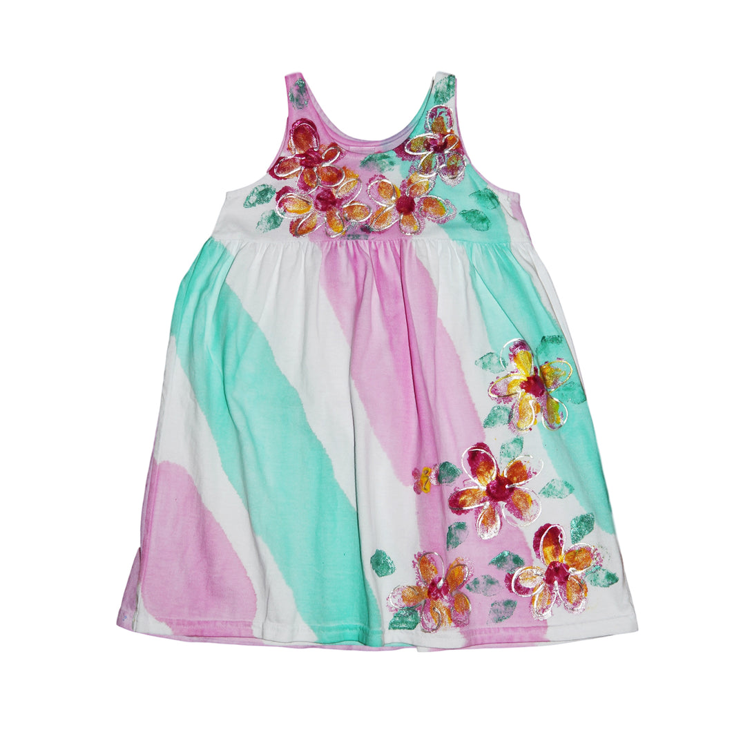 Hand Painted Plumeria Dress