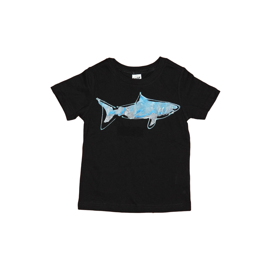 Hand Painted Shark Tee