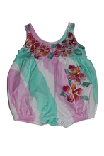 Load image into Gallery viewer, Hand Painted Plumeria Romper