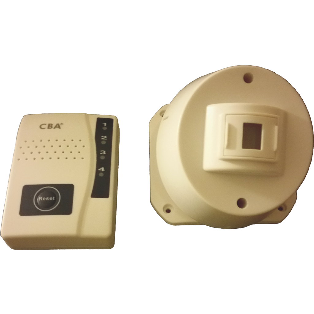 RC1 Wireless PIR/ Motion Sensor with Long distance portable vibrating receiver - Reliable Chimes