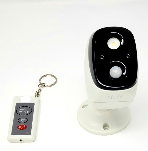 Knight Light camera with 120 DB Alarm( Porch Pirate Deterrent )