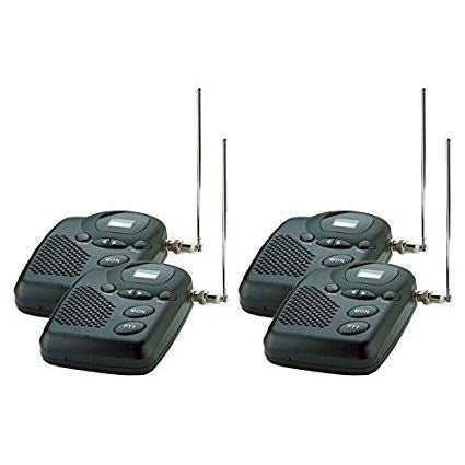 Wireless Intercom System- MURS Long Range up to 4 Miles. Four Room Set - Reliable Chimes