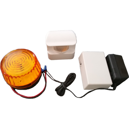 Motion activated sensor with remote strobe ( HS3605) RC 24 - Reliable Chimes