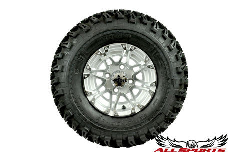 "10"" HD3 Silver on 22"" Slasher Tires"