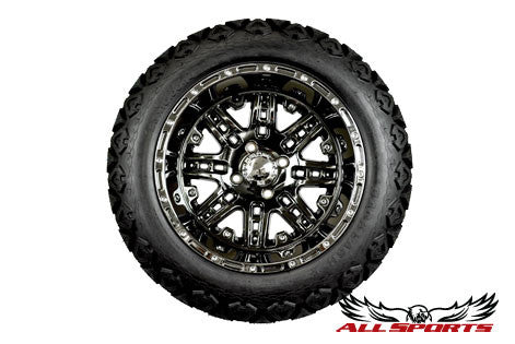 "14"" Megastar on 23"" Backlash Tires - Black Chrome"