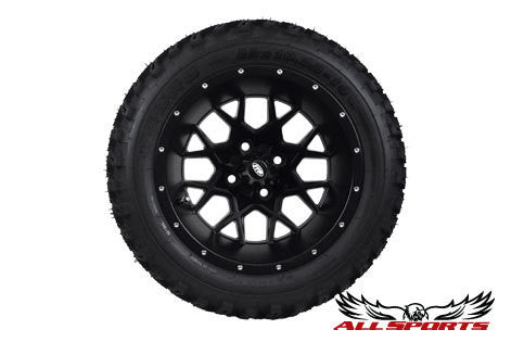 "14"" ITP Hurricane on 23"" Duro Desert Tires - Matte Black"