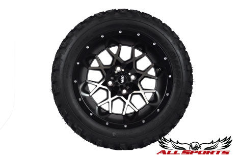 "14"" ITP Hurricane on 23"" Duro Desert Tires - Machined"