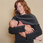 The HadleyStilwell Fleece Nursing Tunic...warm, comfortable and stylin' clothes for breastfeeding moms, soft on baby's skin.