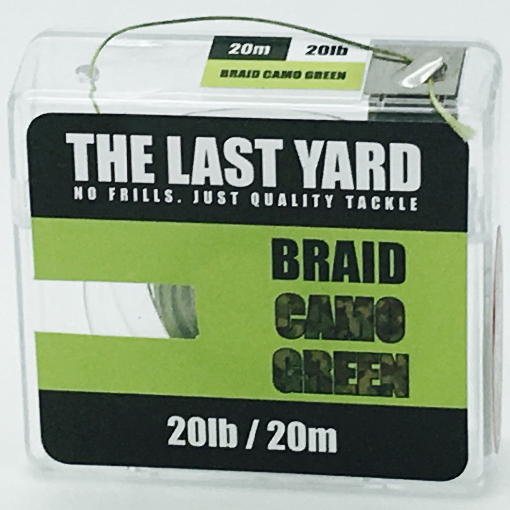 The Last Yard Camo Green Braid 20lb 20m