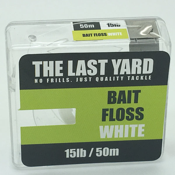 The Last Yard Bait Floss White 50m