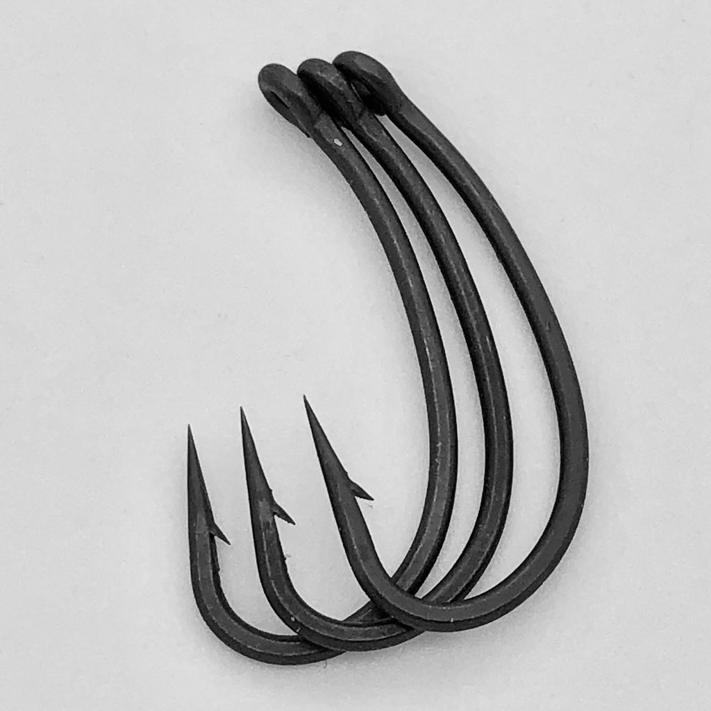 The Last Yard BARBED Curve Shank Hooks