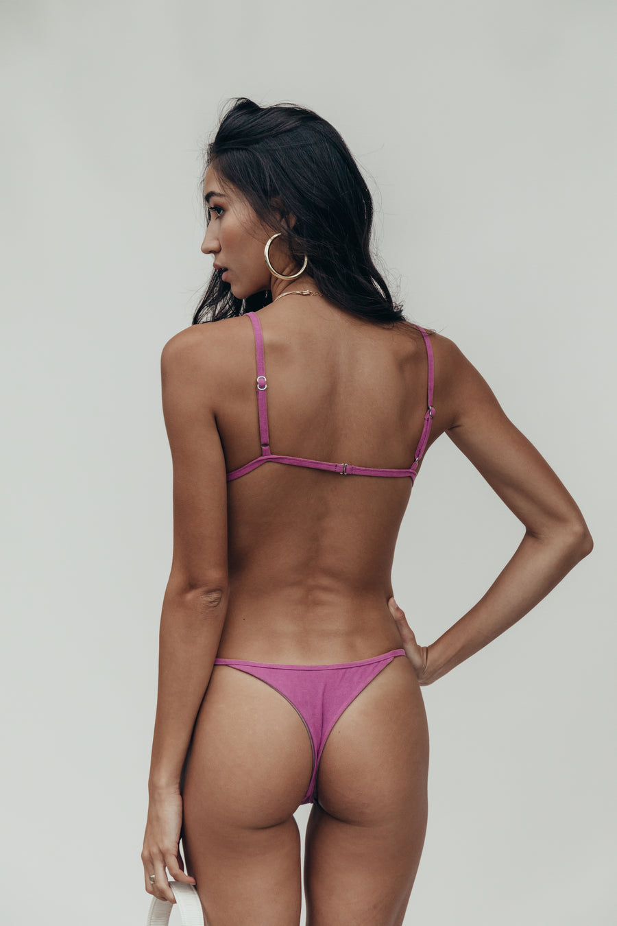 demi bottom in orchid suede