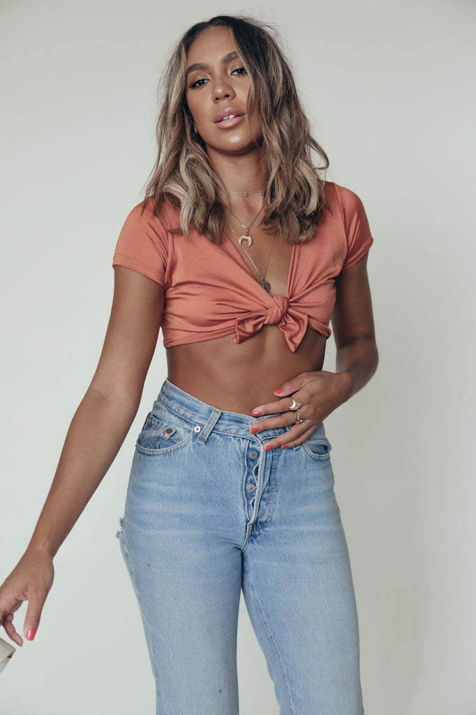 ashley top in copper