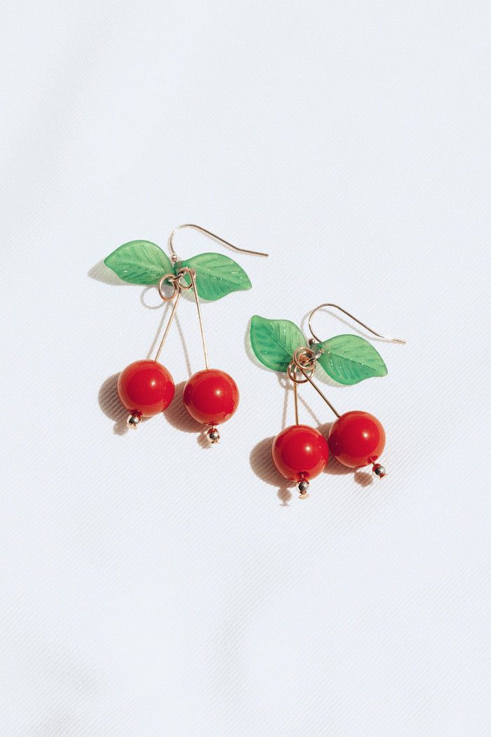 Cherry Dangle Earrings - Gift with Purchase