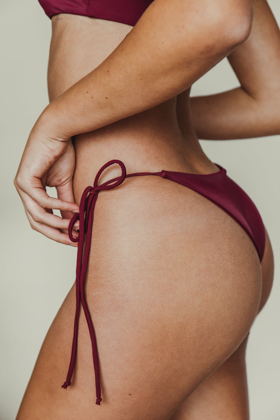 daisy cheeky bottom in merlot