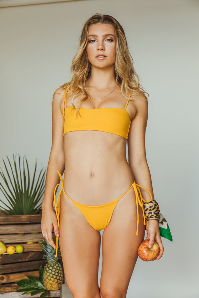 daisy minimal bottom in mustard