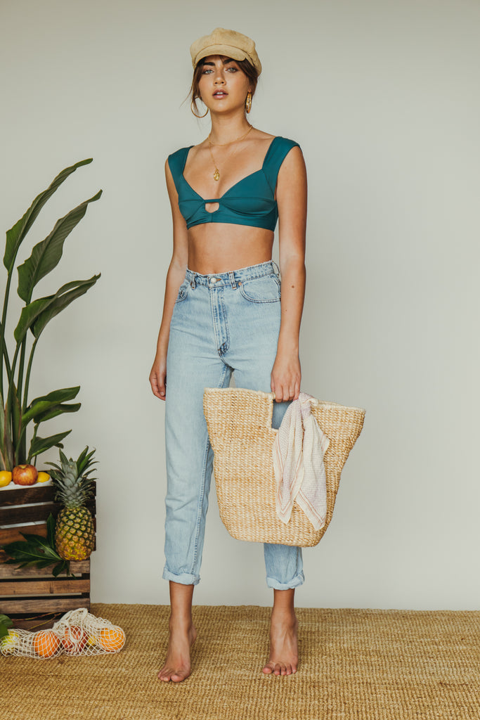 rio top in teal