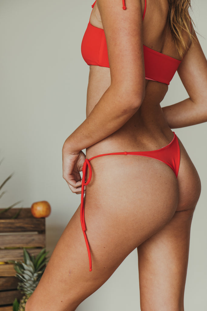 daisy minimal bottom in red + rouge