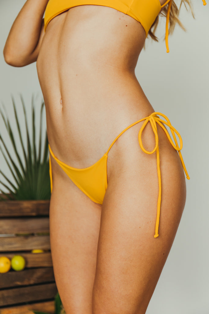 daisy cheeky bottom in mustard