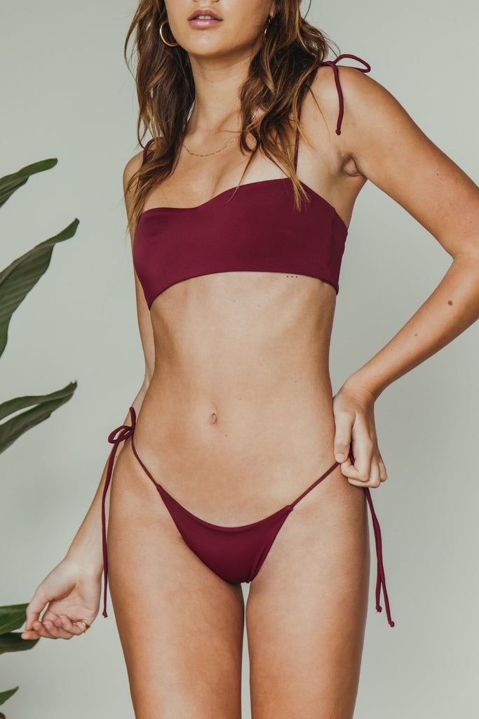 daisy minimal bottom in merlot