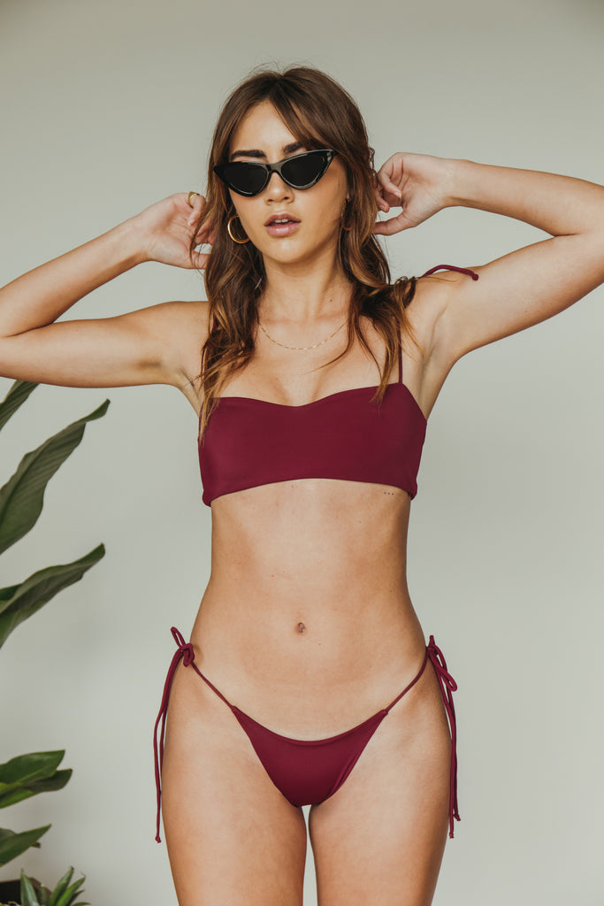 daisy top in merlot
