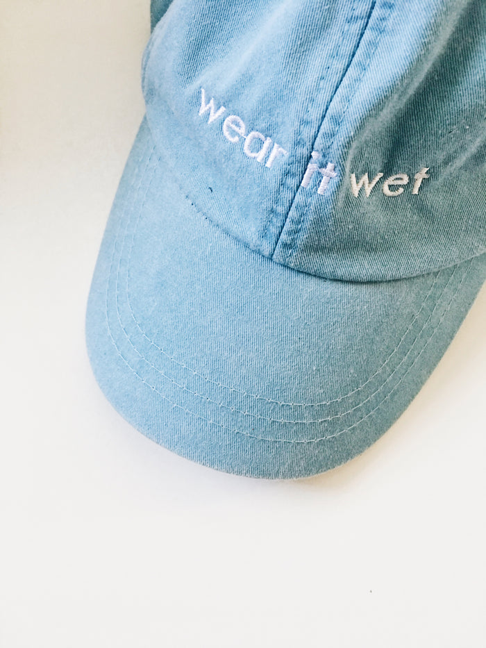 [wear it wet] dad hat in denim