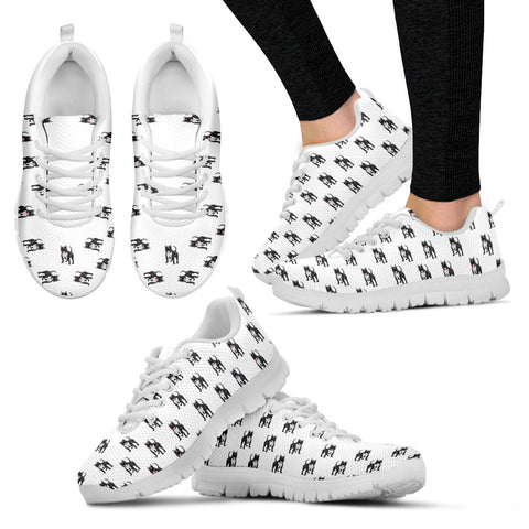 Ladies Pitbull Custom Designer Sneakers In White