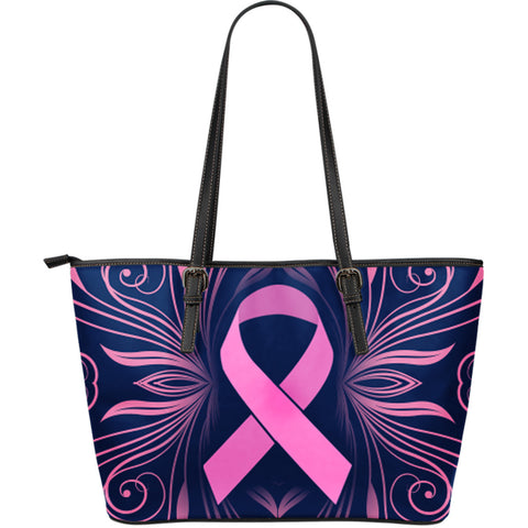 Breast Cancer Awareness Large Leather Tote Bag